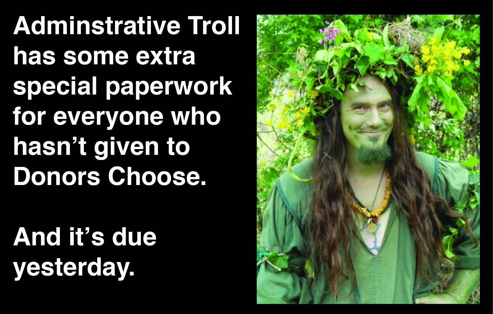 Admin troll